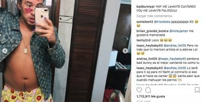 Bad Bunny se pinta las uñas y genera controversia en redes sociales