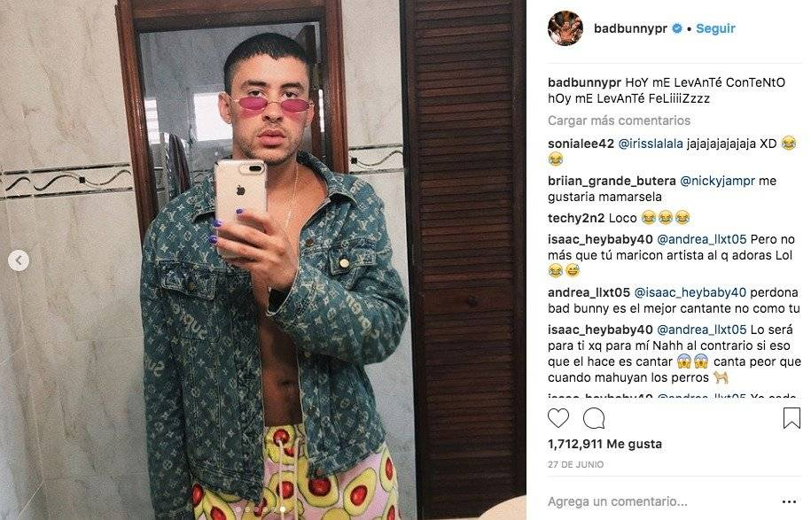 Bad Bunny se pinta las uñas y genera controversia en redes sociales Instagram