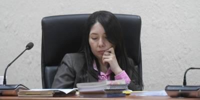 Exdiputada Emilenne Mazariegos.