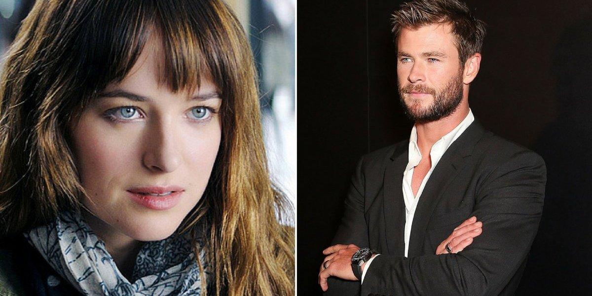 Dakota Johnson revela sua reação ao ver Chris Hemsworth sem camisa em novo filme