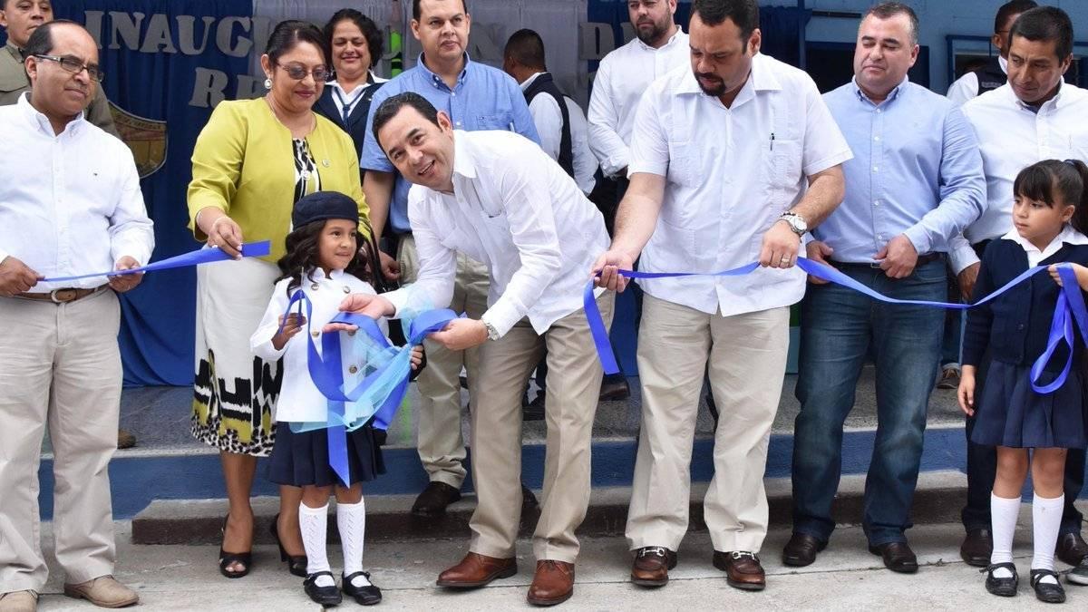Gobierno entrega remozamiento de escuelas en Jalapa