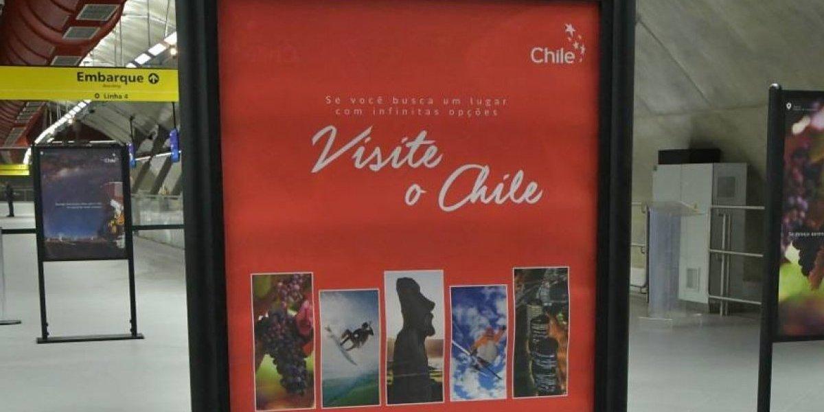 Las maravillas de Chile son exhibidas en el metro de Sao Paulo