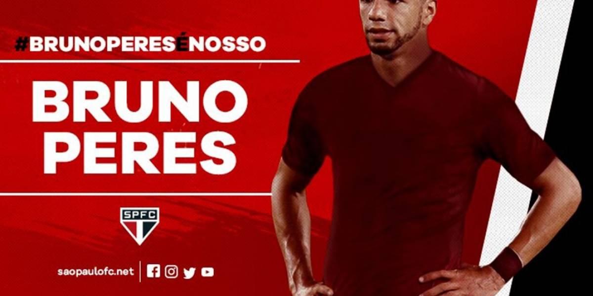 São Paulo anuncia contratação do lateral Bruno Peres até o fim de 2019