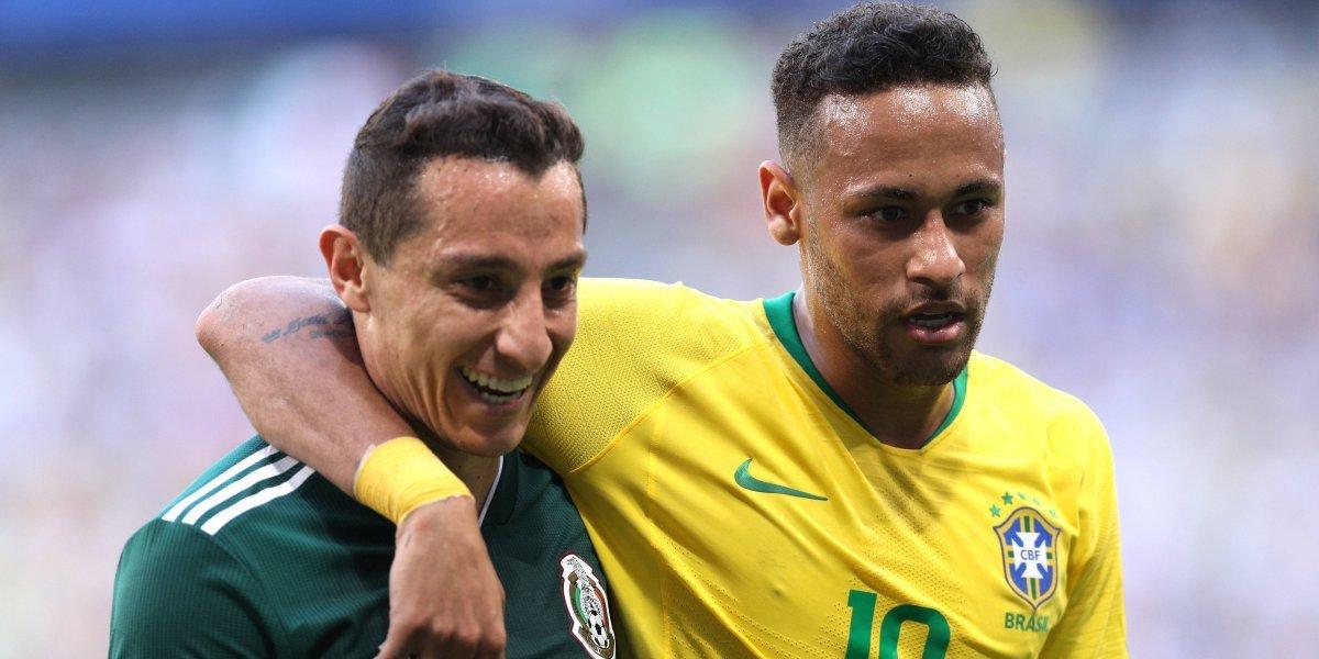 Andrés Guardado se burla de la eliminación de Brasil