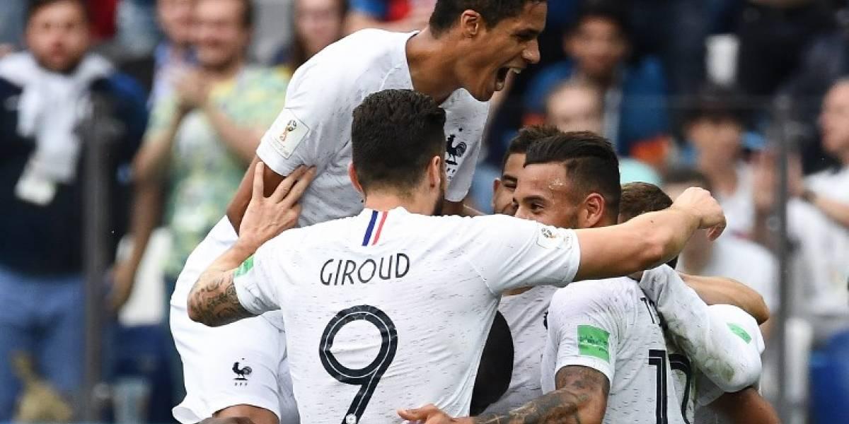 """Sin brillo, Francia se impone a """"la garra charrúa"""" y avanza a semifinales"""