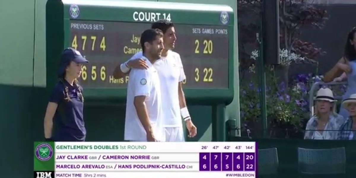 Tres días, cinco horas y un minuto de partido: Hans Podlipnik logró un histórico triunfo en el dobles de Wimbledon