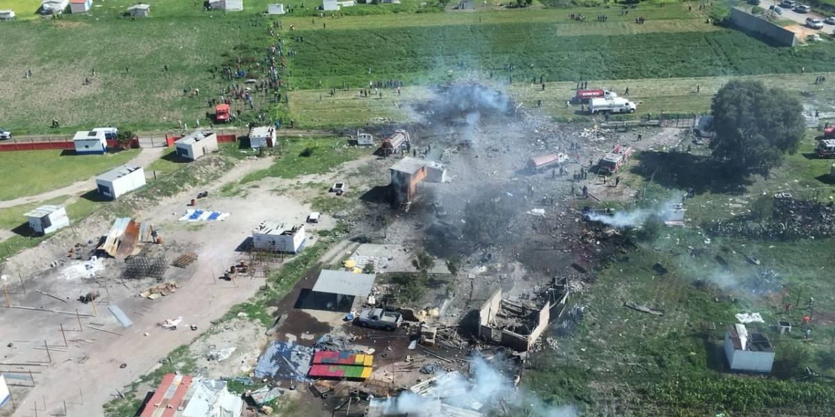 Tultepec: las fotos de la tragedia que dejó al menos 24 muertos