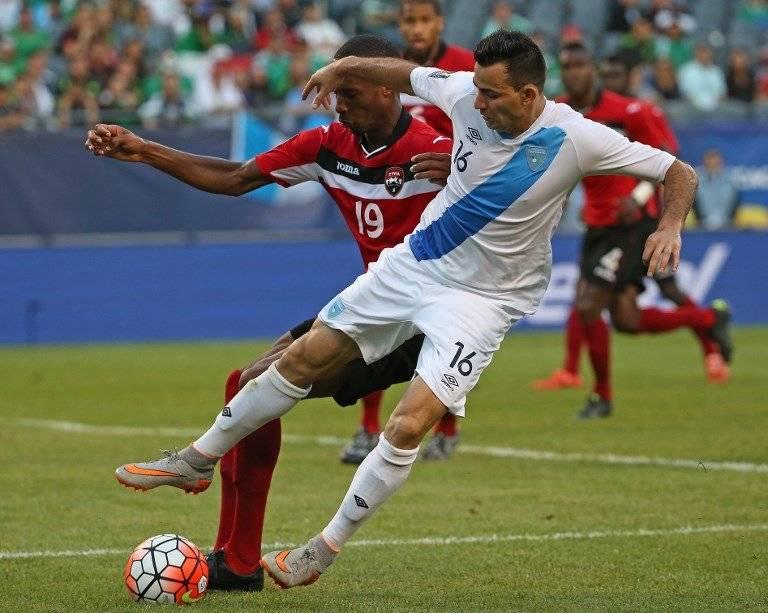 Marco Pappa en un partido de Guatemala en Copa Oro