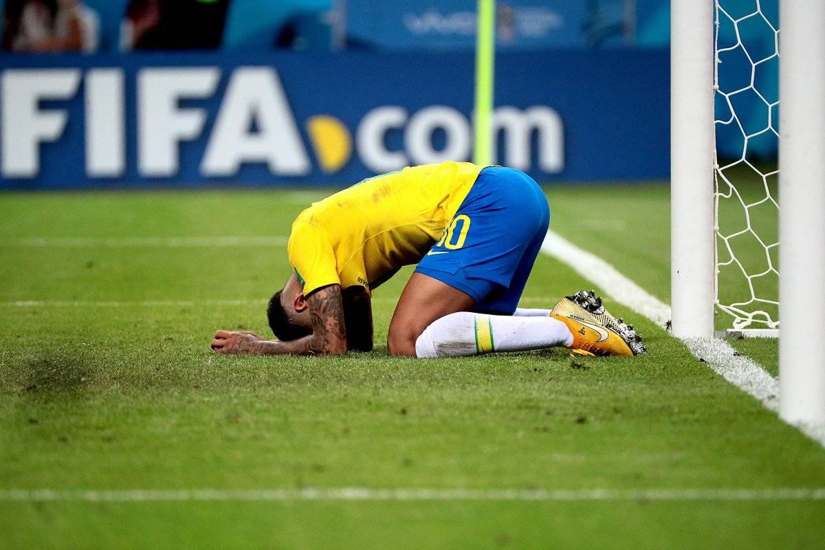 """Brasil """"Es el momento más triste de mi carrera"""", fueron las palabras del delantero de Brasil, Neymar tras la dolorosa eliminación en cuartos de final ante Bélgica en Mundial de Rusia 2018. se va del Mundial EFE"""