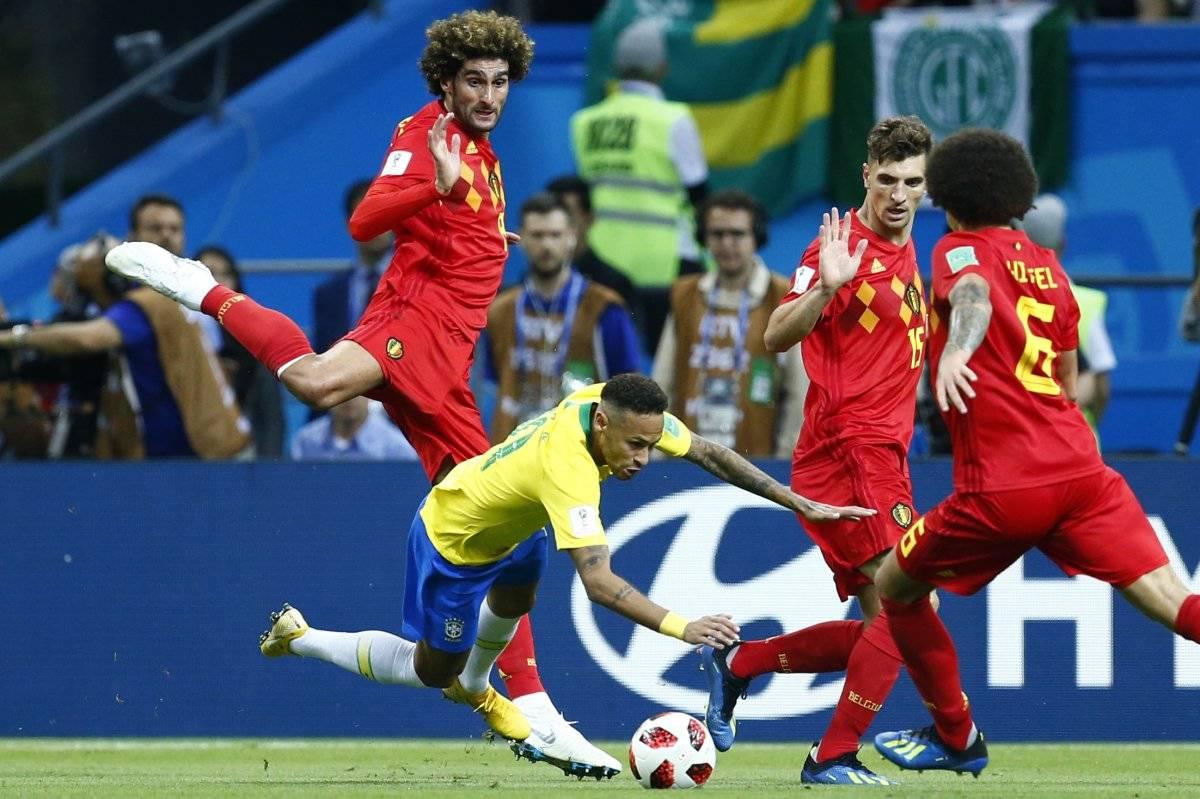 Neymar estuvo bien marcado durante todo el juego.