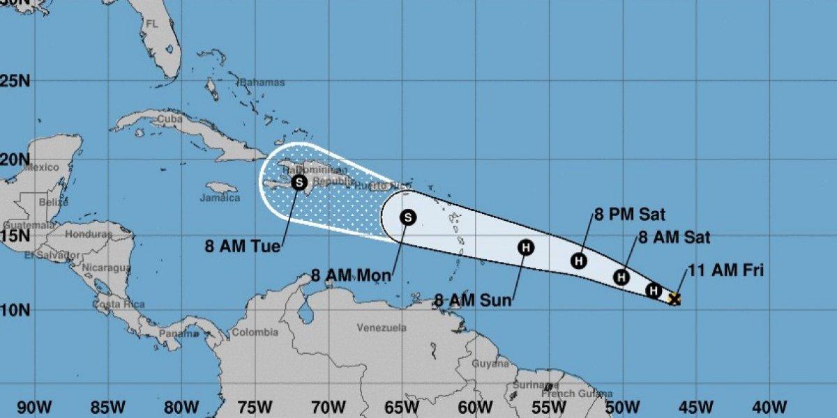 A esta hora podría pasar Beryl por Puerto Rico