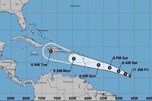Boletín 11:00 a.m. del viernes del huracán Beryl
