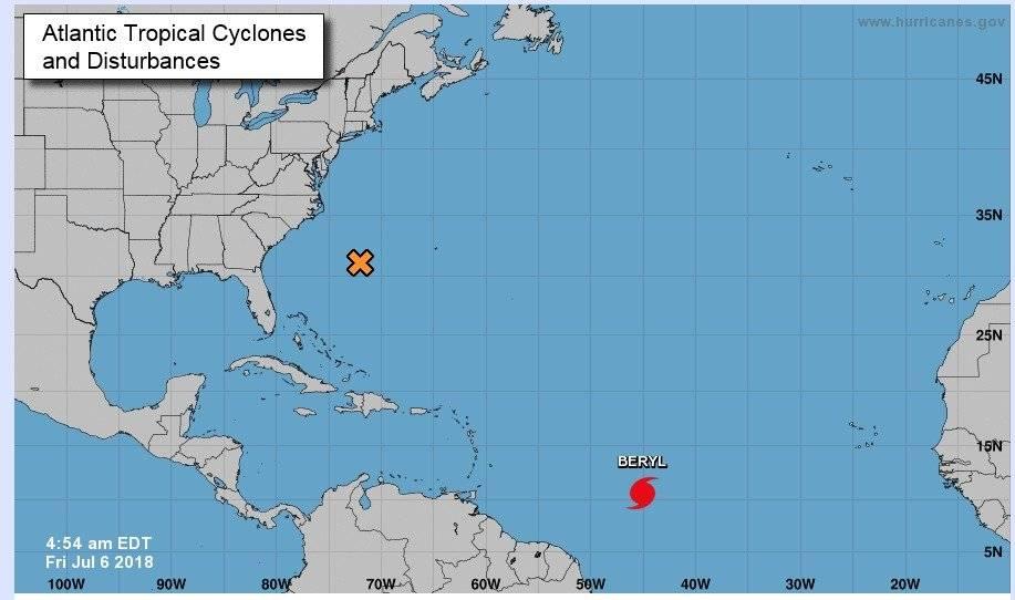 Huracán Beryl categoría 1