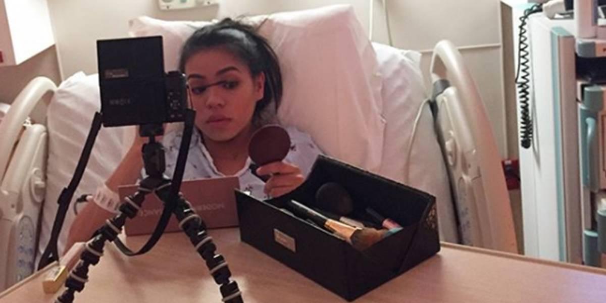 Esta youtuber grabó tutorial de maquillaje en pleno parto