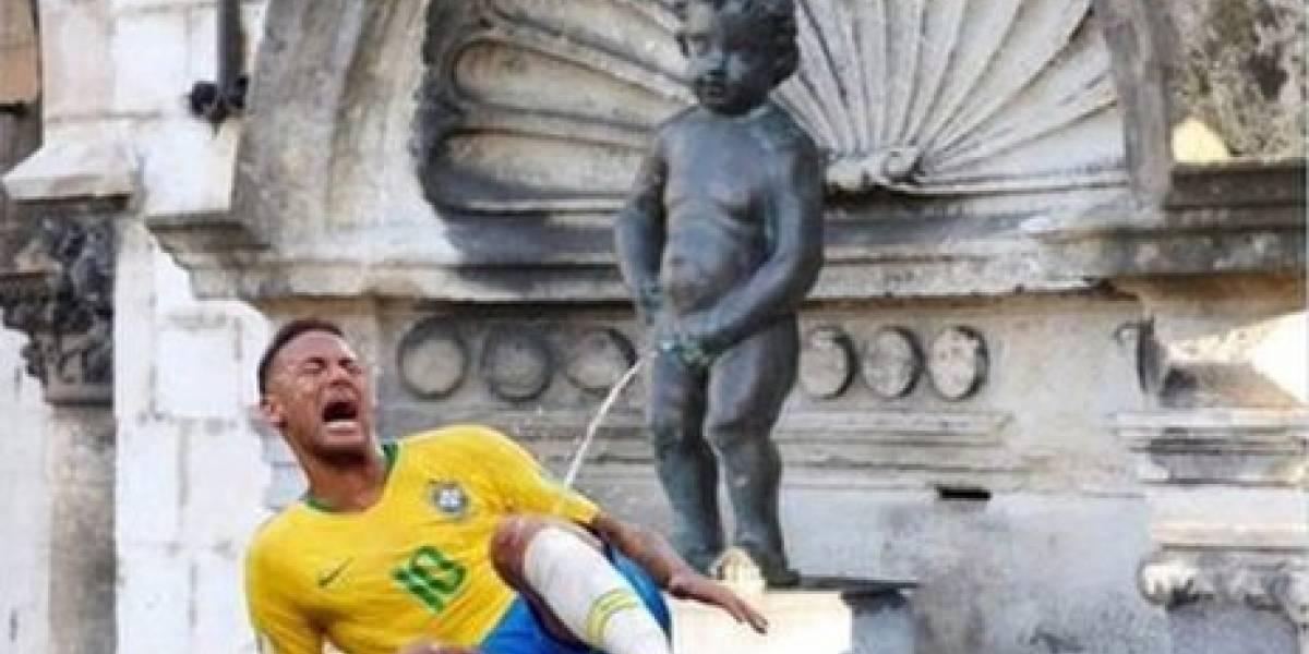 Prefeito de Bruxelas cria polêmica ao postar imagem de estátua belga famosa urinando em Neymar
