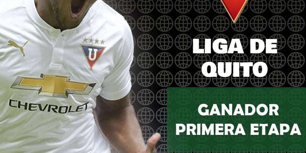 Liga de Quito ganó la Primera Etapa del Campeonato Ecuatoriano