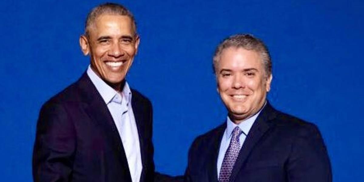 Así calificó Duque su reunión con Obama en Madrid