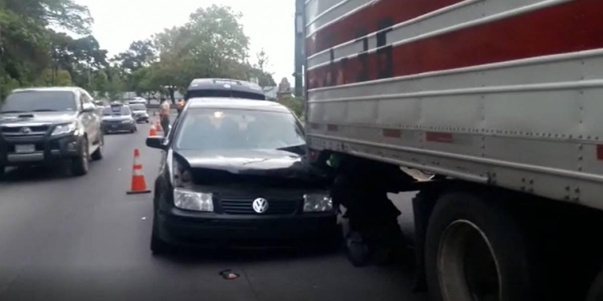 Dos accidentes en la carretera Interamericana complican el tránsito