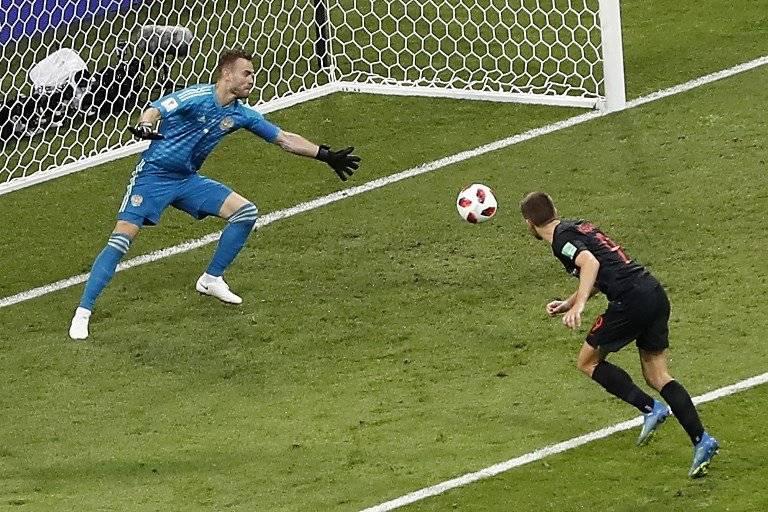 Así fue como llegó el tanto del empate para Croacia
