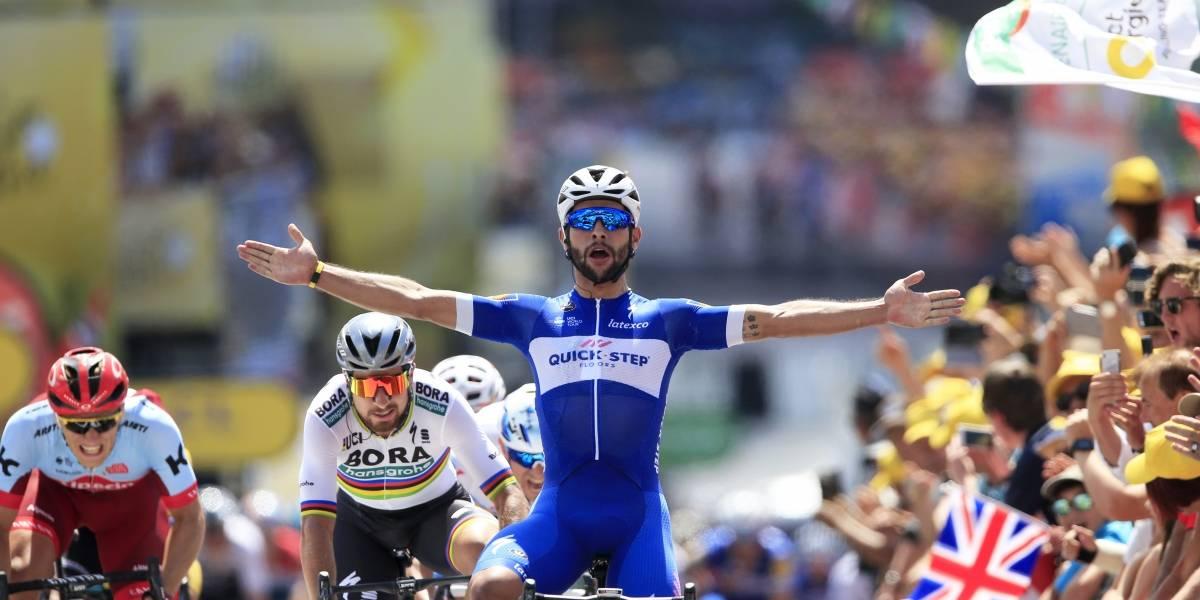 Tour de Francia: Gaviria triunfa en una etapa llena de problemas para Quintana y Froome