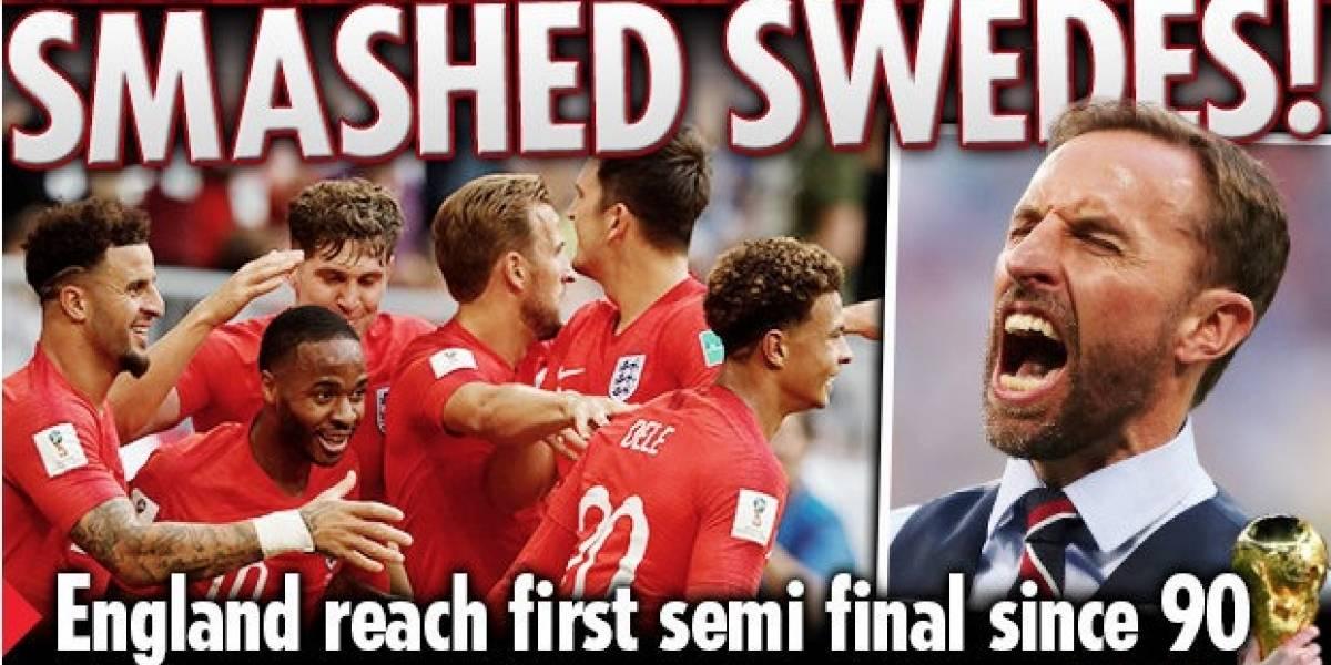 """""""El sueño continúa"""": La prensa inglesa festejó con todo el paso de su selección a semifinales del Mundial"""