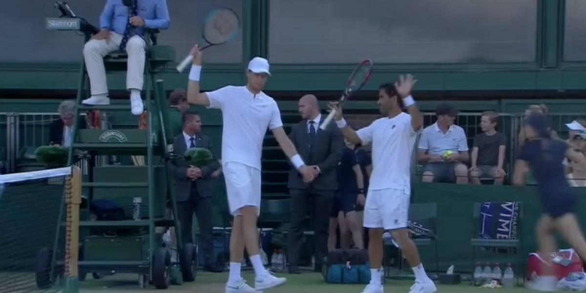 Jarry sigue brillando en el dobles de Wimbledon y es el único chileno que sigue vivo
