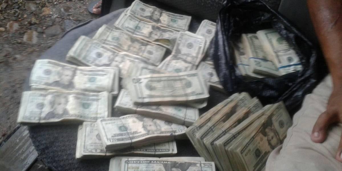 Autoridades antinarcóticas localizan US$60 mil 600 en San Marcos