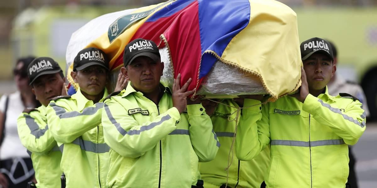 El último adiós de pareja ecuatoriana asesinada por grupo disidente de las Farc