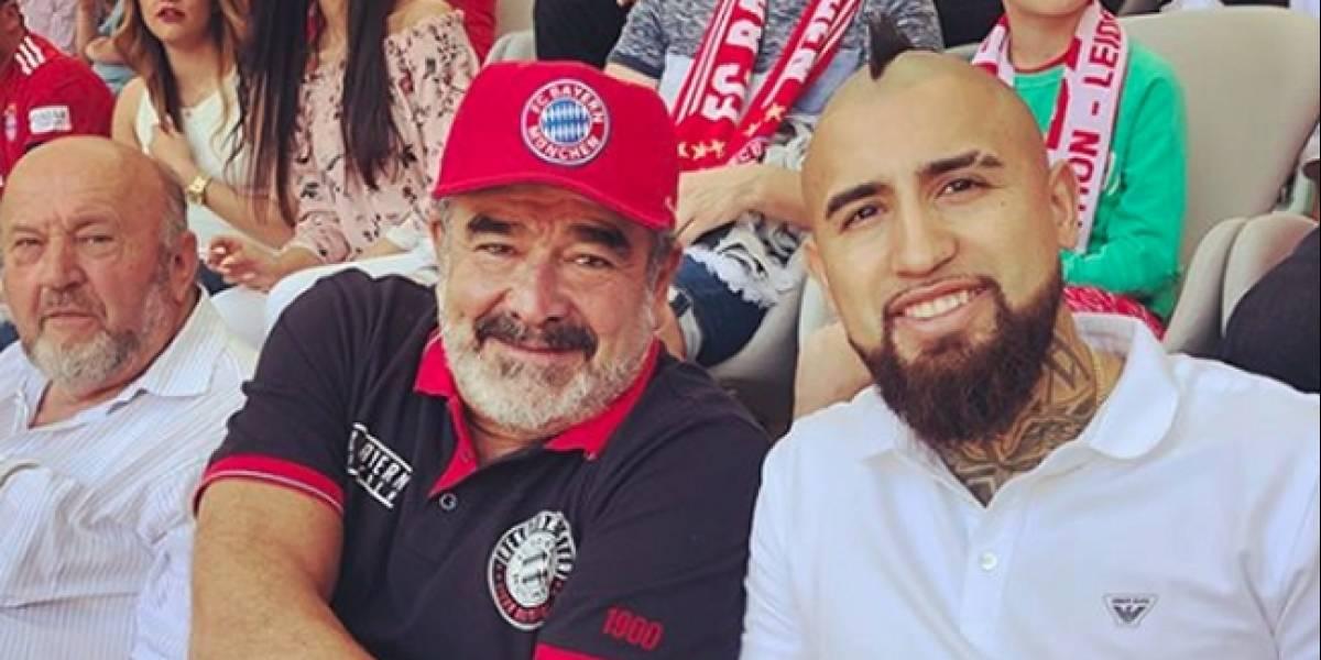 """Arturo Vidal se la juega por Croacia apoyando a su """"amigo"""" Andrónico Luksic"""