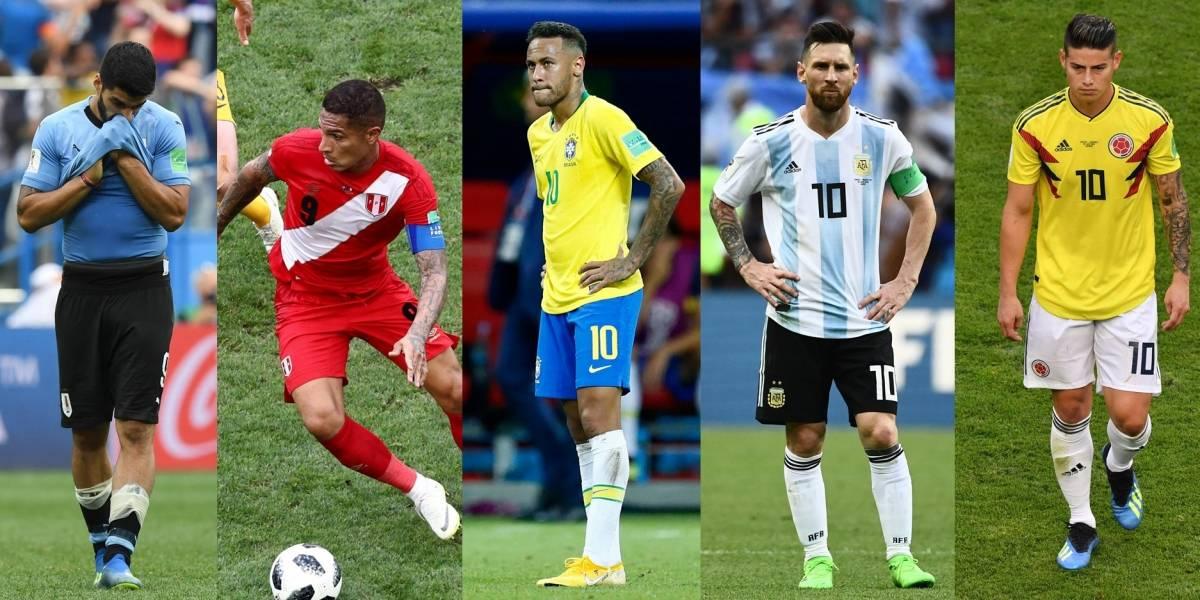 Las estrellas sudamericanas que no pudieron brillar en el Mundial