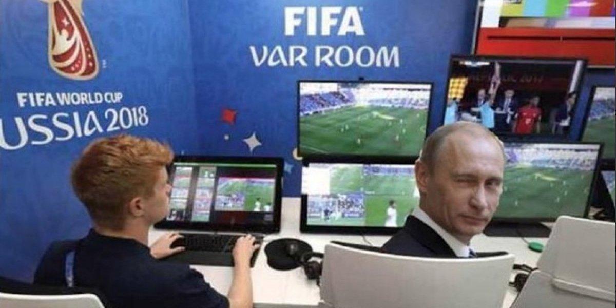 Vladimir Putin fue el protagonista de los memes del juego Rusia vs. Croacia
