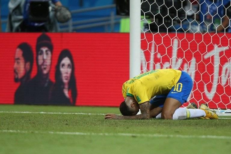 Neymar tras el juego contra Bélgica