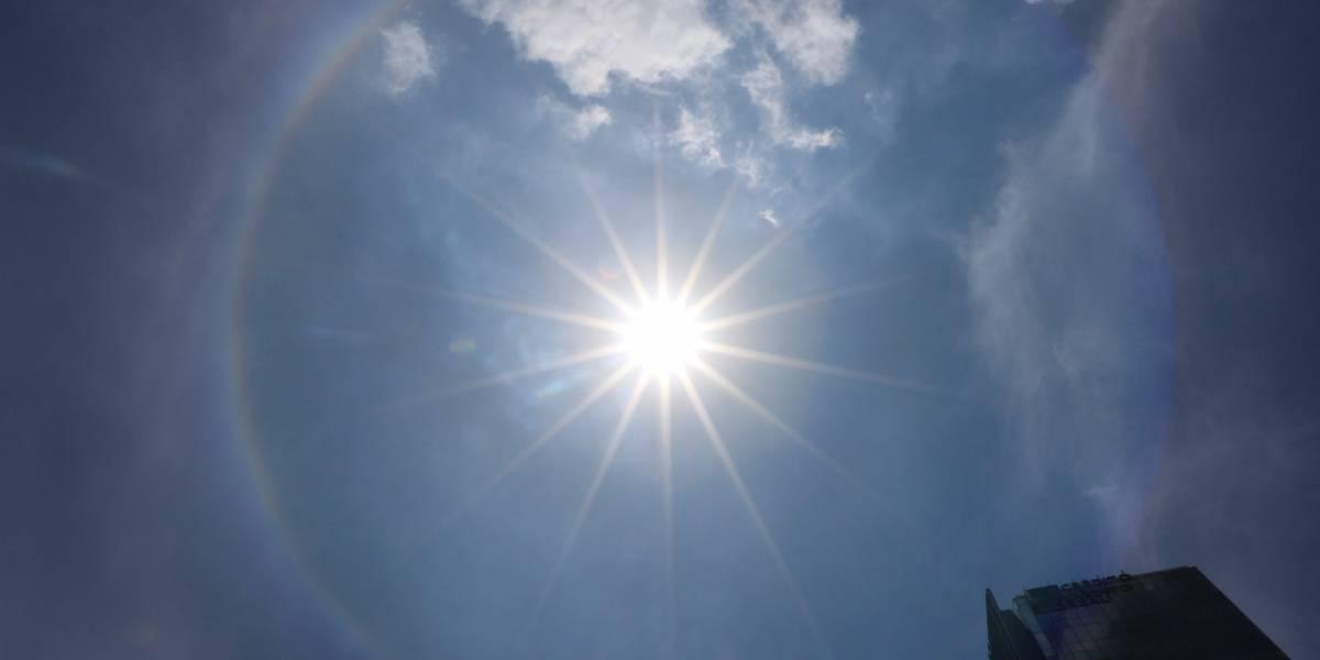 Halo solar sorprende a capitalinos