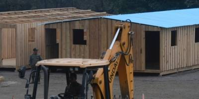 Casas para damnificados volcán de Fuego