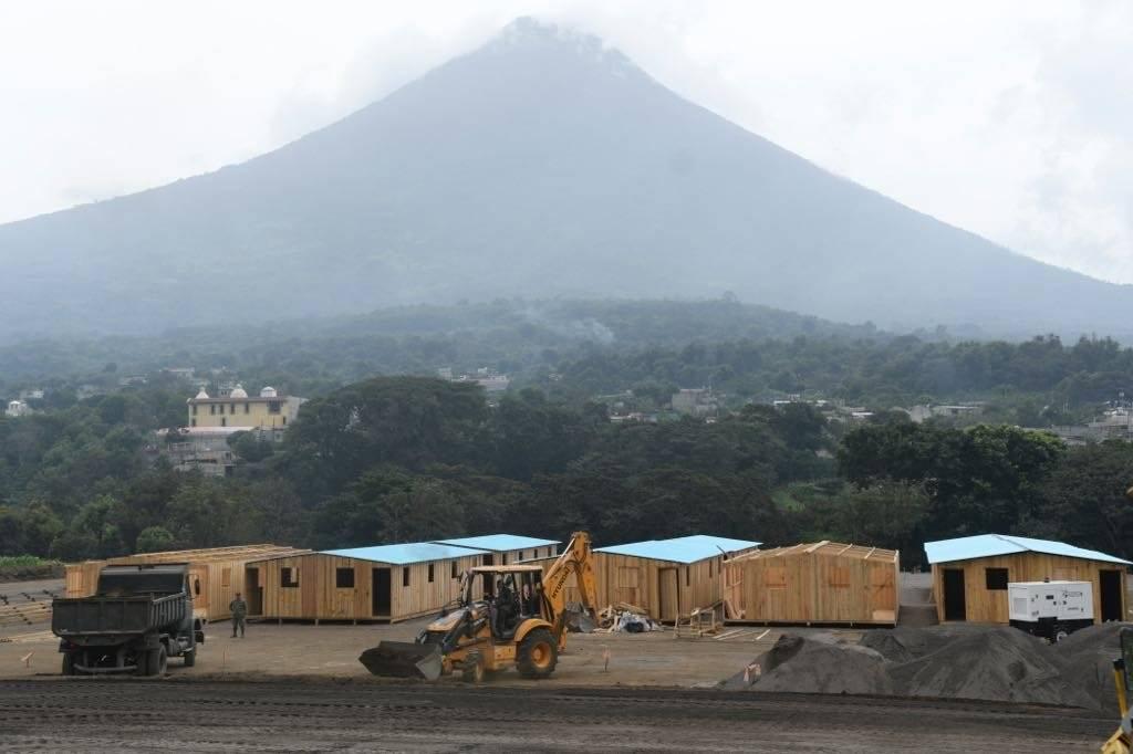 Casas damnificados volcán de Fuego