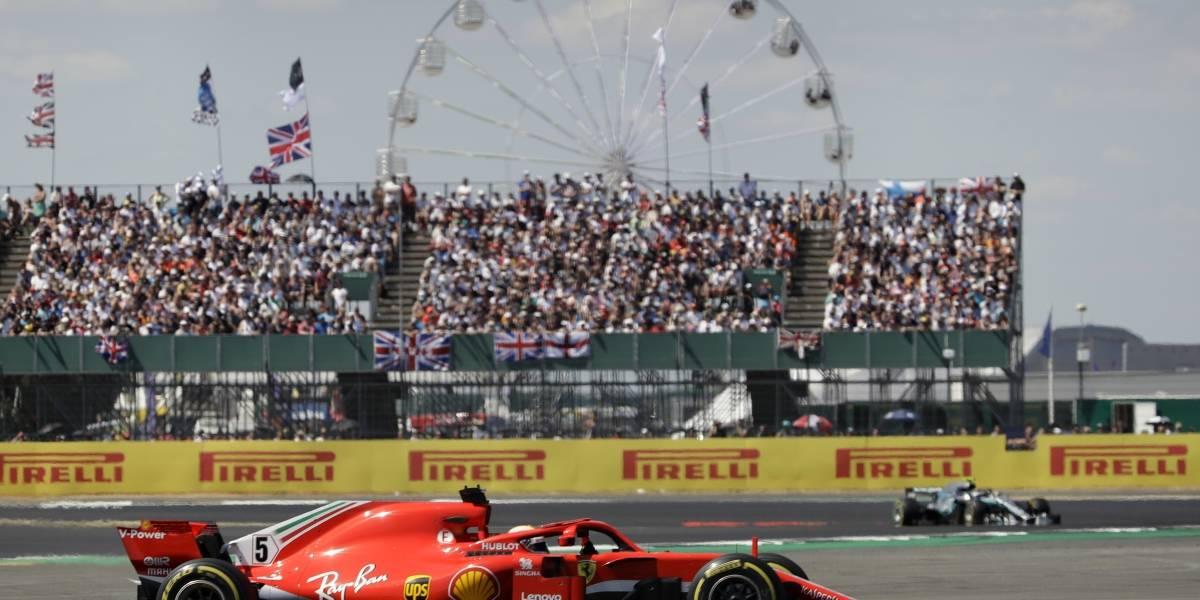 Fórmula Uno: Vettel aprovechó un mal arranque de Hamilton para quedarse con el GP de Gran Bretaña