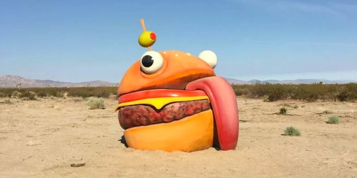 La famosísima hamburguesa de Fortnite desapareció del mapa... y apareció en la vida real
