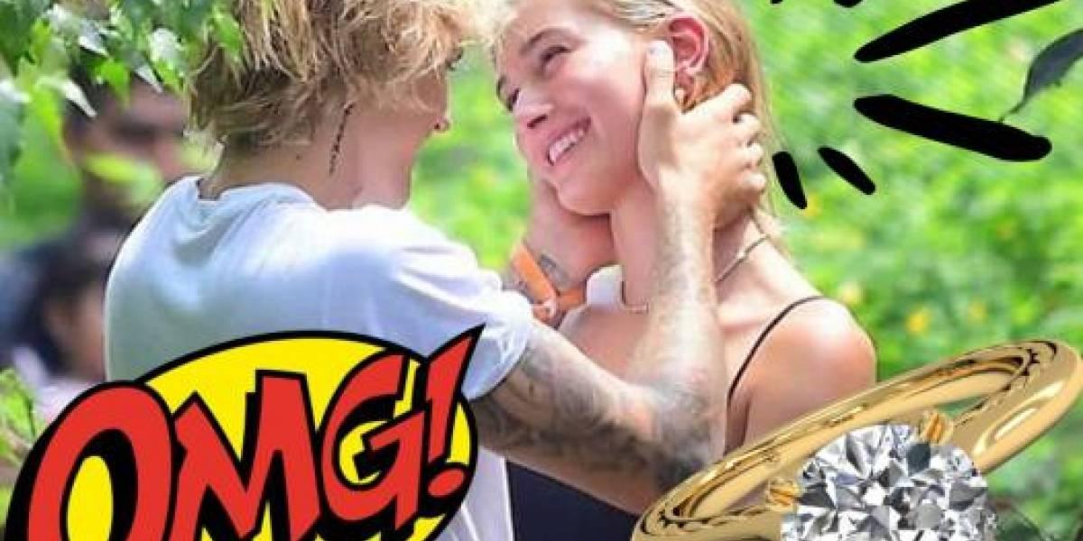 Justin Bieber podría haberse comprometido tras un mes de relación con Hailey Baldwin