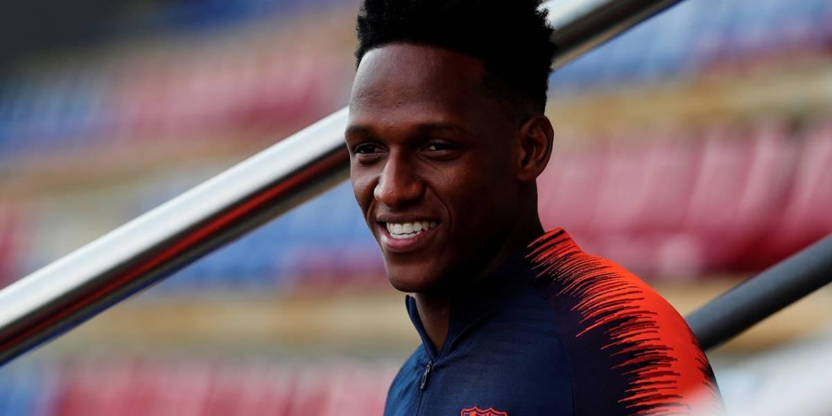 Yerry Mina podría salir del FC Barcelona