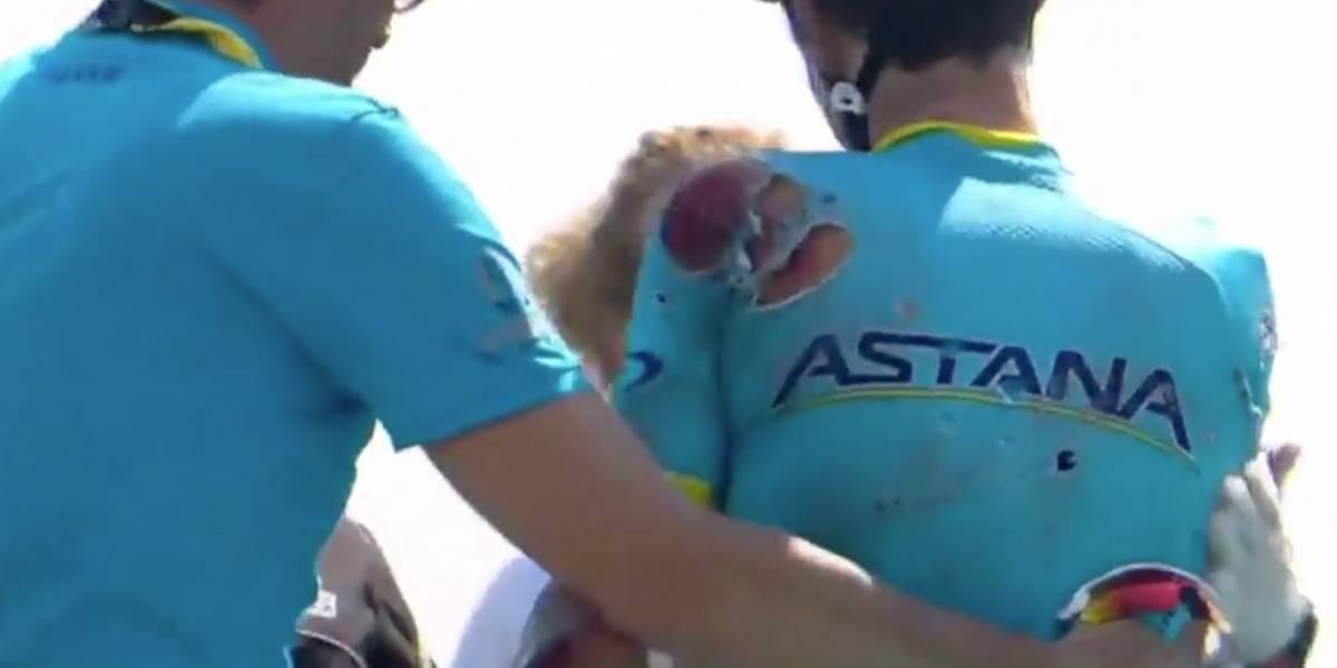 ¡Impactante caída obliga a ciclista a abandonar el Tour de Francia!