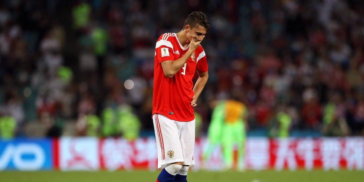 Así quedó el pie de un jugador ruso tras el partido contra Croacia