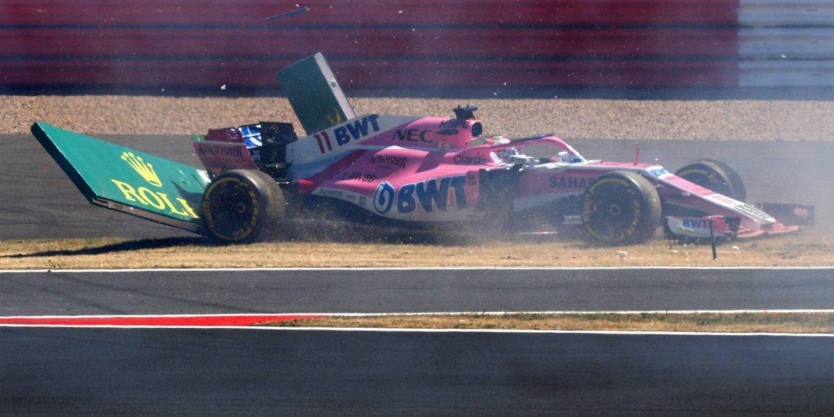 Sergio Pérez clasifica en el décimo lugar del GP de Gran Bretaña