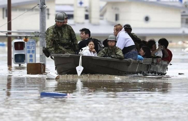 Inundaciones por lluvias atípicas en Jap´pn. Foto: AP