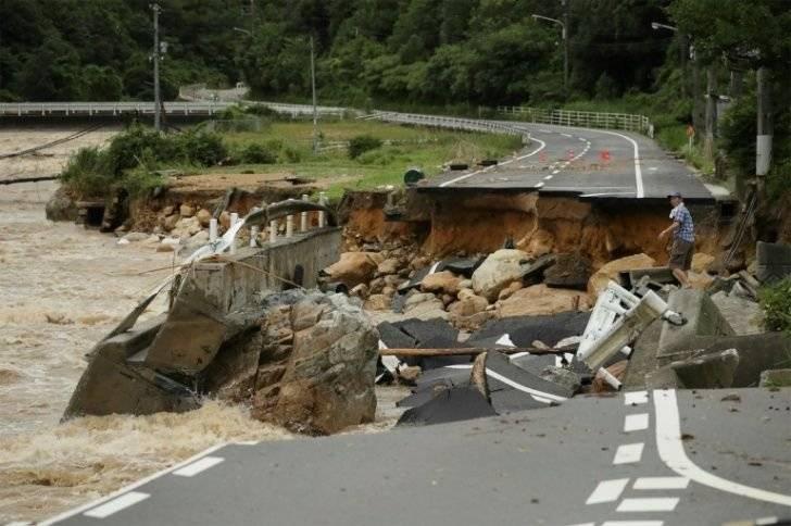 Inundaciones en Japón. Foto: AP