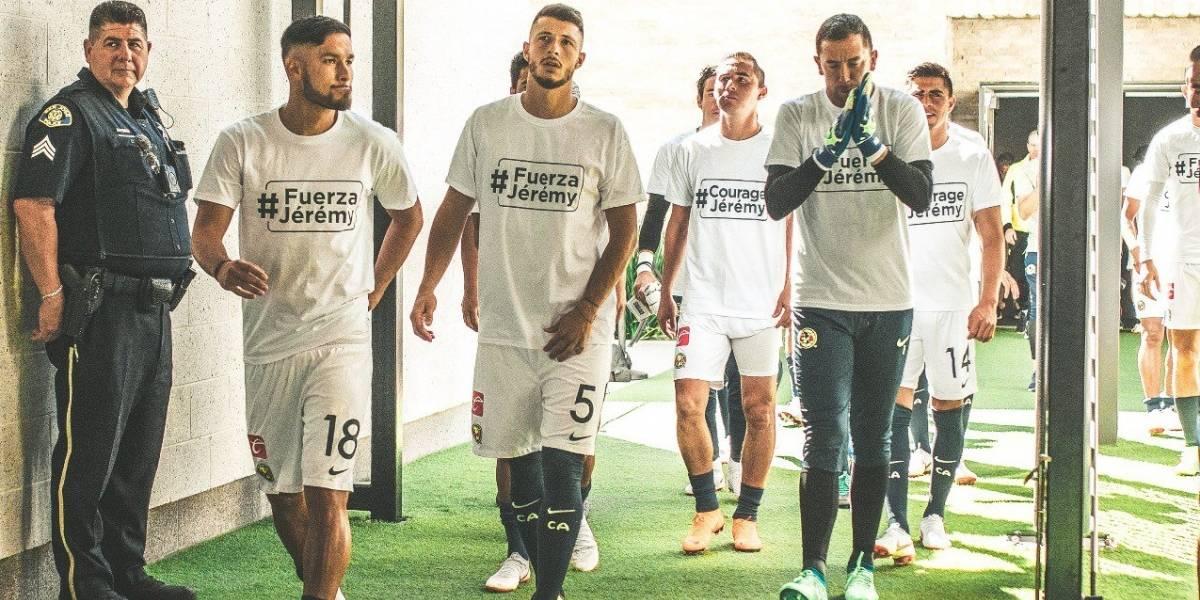 Jugadores del América envían mensaje de apoyo a Jérémy Ménez
