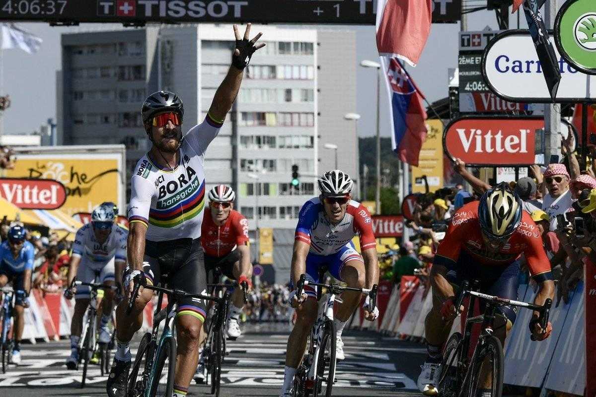 Sagan fue el ganador de la segunda etapa