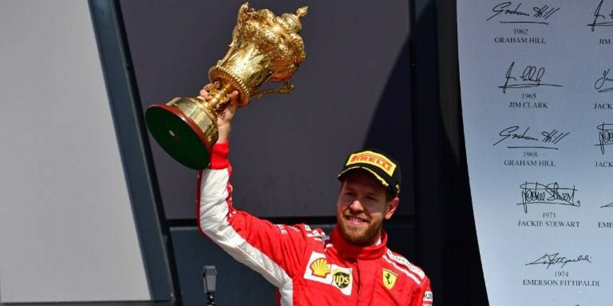 Épico triunfo de Vettel en Gran Bretaña y sigue siendo líder de la temporada