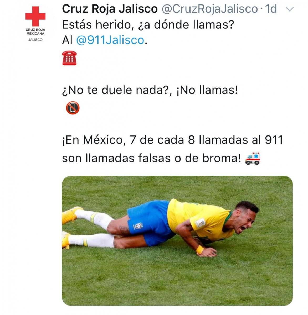Rusia 2018: En México se burlaron de Neymar tras la eliminación de Brasil