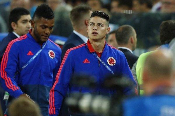 James Rodríguez nunca pudo estar ante Inglaterra y en Colombia lo sabían / imagen: AP