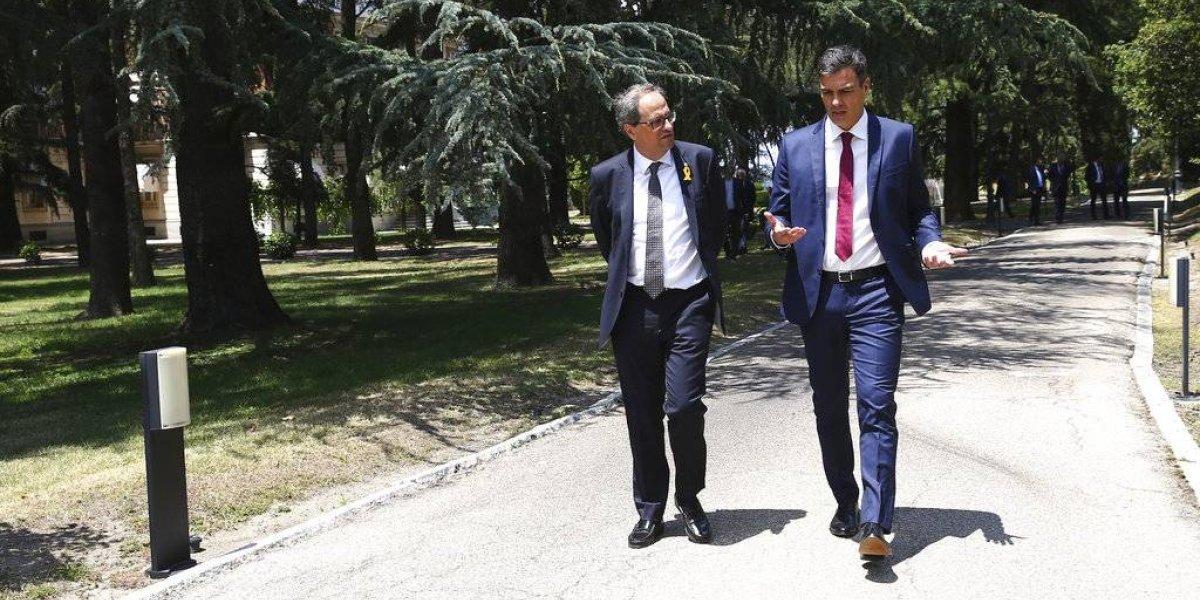 Sánchez y Torra, sin acuerdo sobre autodeterminación de Cataluña